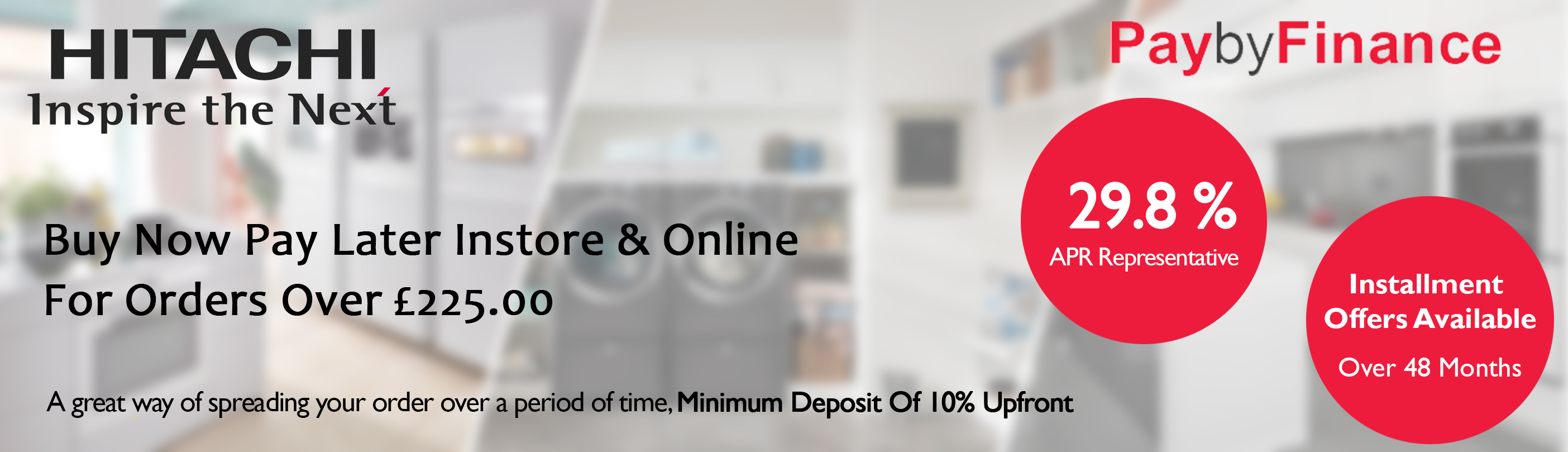 Finance options from Home Appliance Store